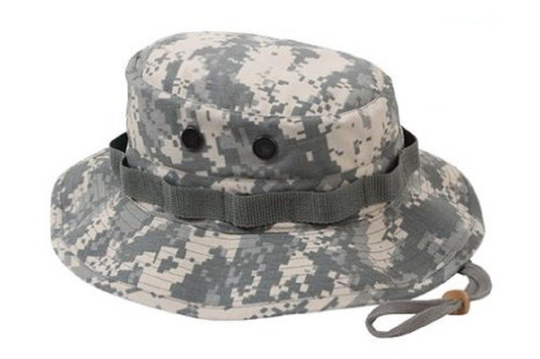 b9c9e3c8f4e Rothco Poly Cotton Rip-Stop Boonie Hat -ACU Digital Camo