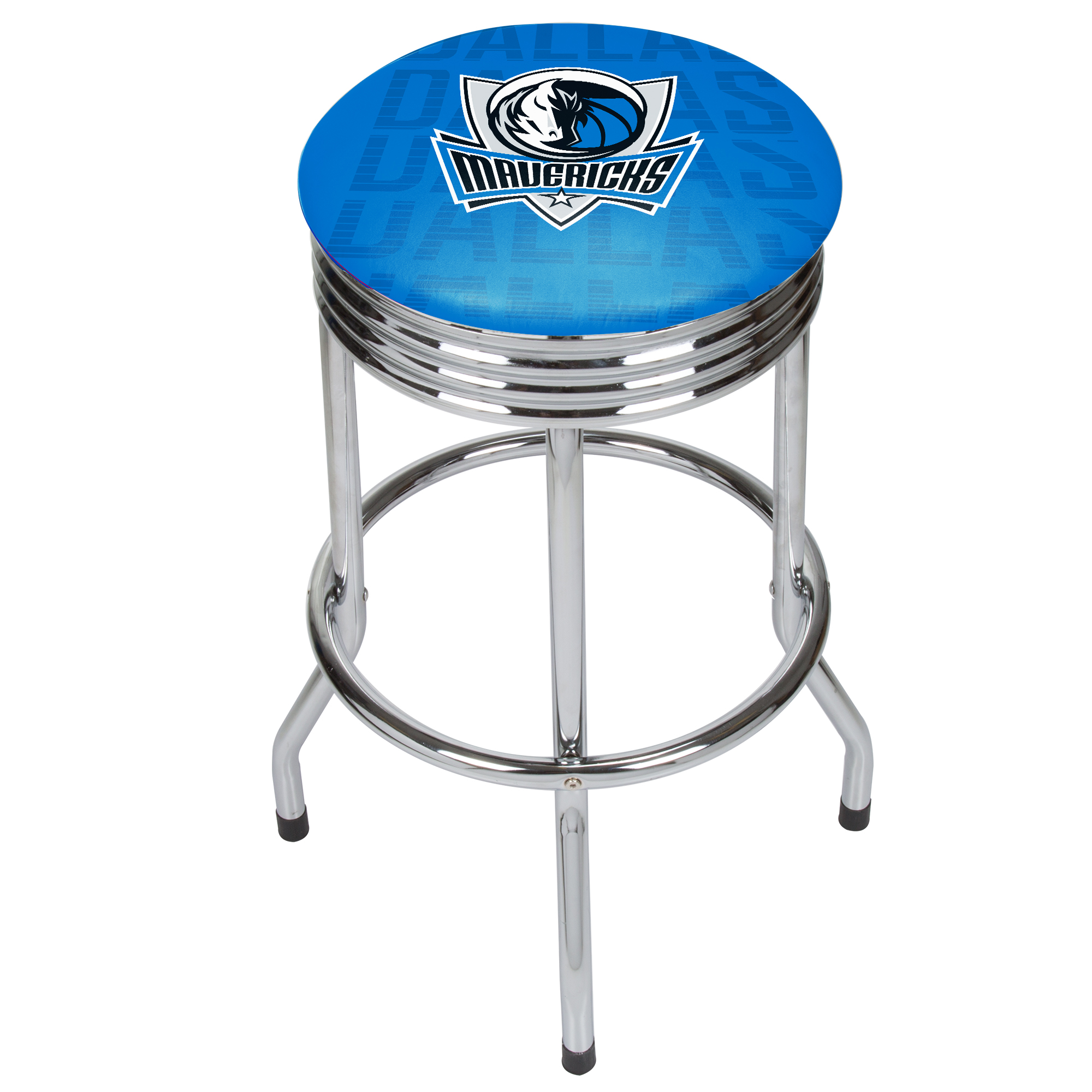 NBA Chrome Ribbed Bar Stool - City - Dallas Mavericks