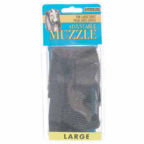 Petmate Doskocil Co. Inc. Muzzle, Large, Adjustable, Black