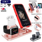 3 in 1 Universal Charging Dock Station Holder Stand For iPhone AirPods Apple Watch