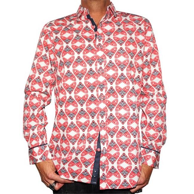RRMW-213RED-XL Flys in a Jar Mens Button Up Fashion Shirt, Extra Large - Red - image 1 de 1