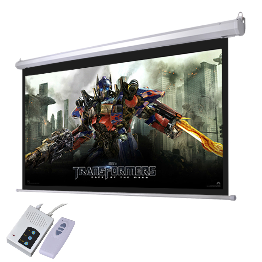"Yescom 92"" 16:9 Motorized Electric Movie Screen w/ Remote Control Auto Home Theater Meeting Room Bar"