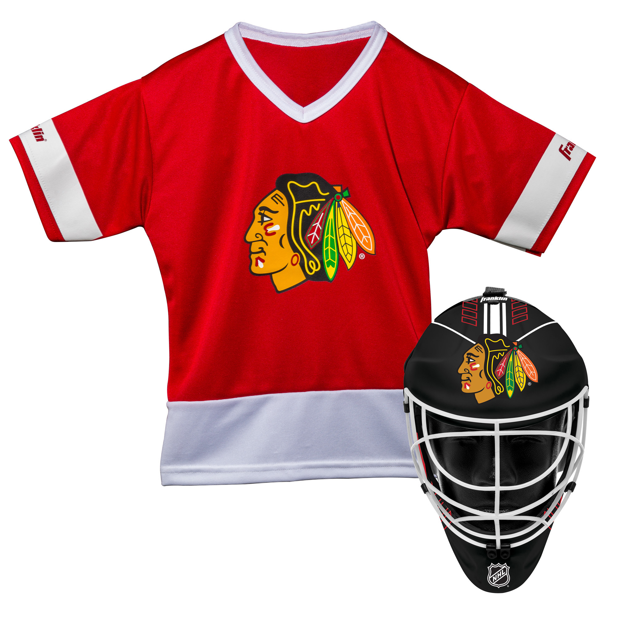 Franklin Sports NHL Chicago Blackhawks Youth Team Uniform Set