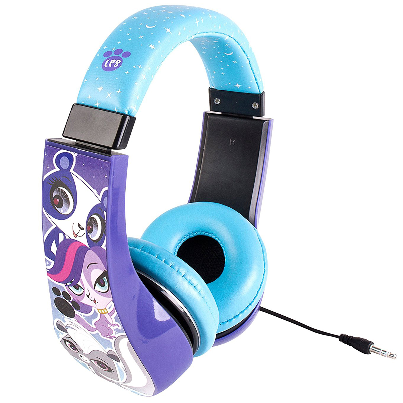Littlest Pet Shop Kids Friendly Cushioned Headphones with Volume Limiter