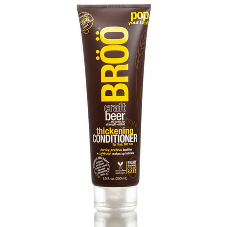 BROO Craft Beer Thickening Conditioner with Shea Moisture, 8.5 oz Body Luxe Thickening Conditioner