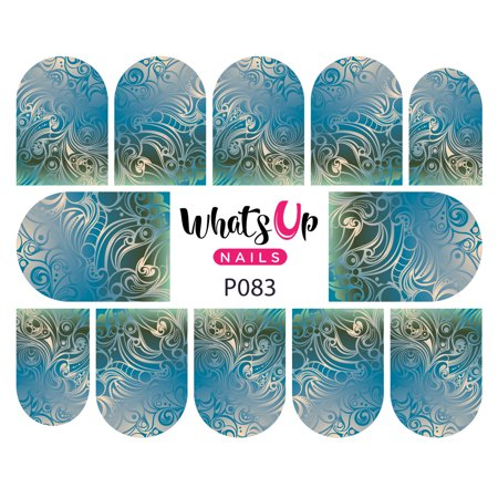 Whats Up Nails - P083 Swirl Sensation Water Decal Sliders for Nail Art