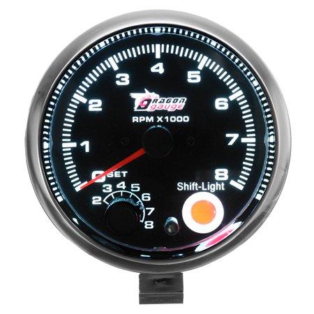 Universal 12V 3.75inch REV Tachometer Tacho Gauge Counter with Shift Light 0-8000 RPM