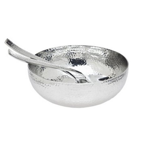Godinger Hammered Salad Bowl & Servers (Salsa Bowls)