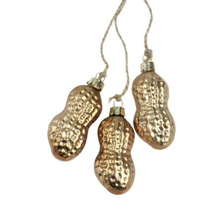 """11"""" Golden Bronze Cluster of Peanuts Glass Christmas Ornament"""
