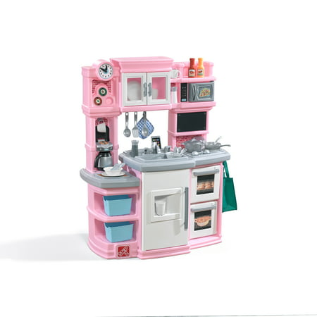 Pine Kitchen Set (Step2 Great Gourmet Kitchen Pink with Storage Bins and Accessory)