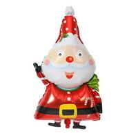 KABOER 1 Pcs Christmas Santa Claus Snowman Aluminum Film Balloon Xmas Party Creative Home Decor