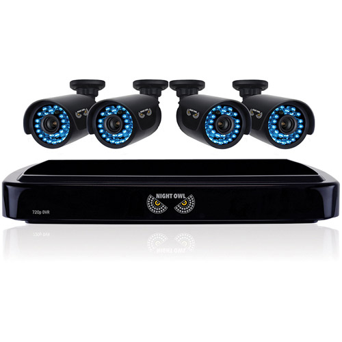Night Owl HD 720p 4-Channel AHD Security System with 4 x 720p Cameras with 100' of Night Vision