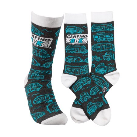 CAMPING SOCKS Novelty Camper Socks, by Primitives by