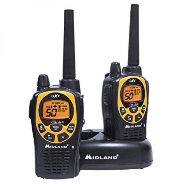 Midland GXT1030VP4, 50 Channel GMRS Two-Way Radio Up to 36 Mile Range Walkie Talkie, 142 Privacy Codes, Waterproof, NOAA... by