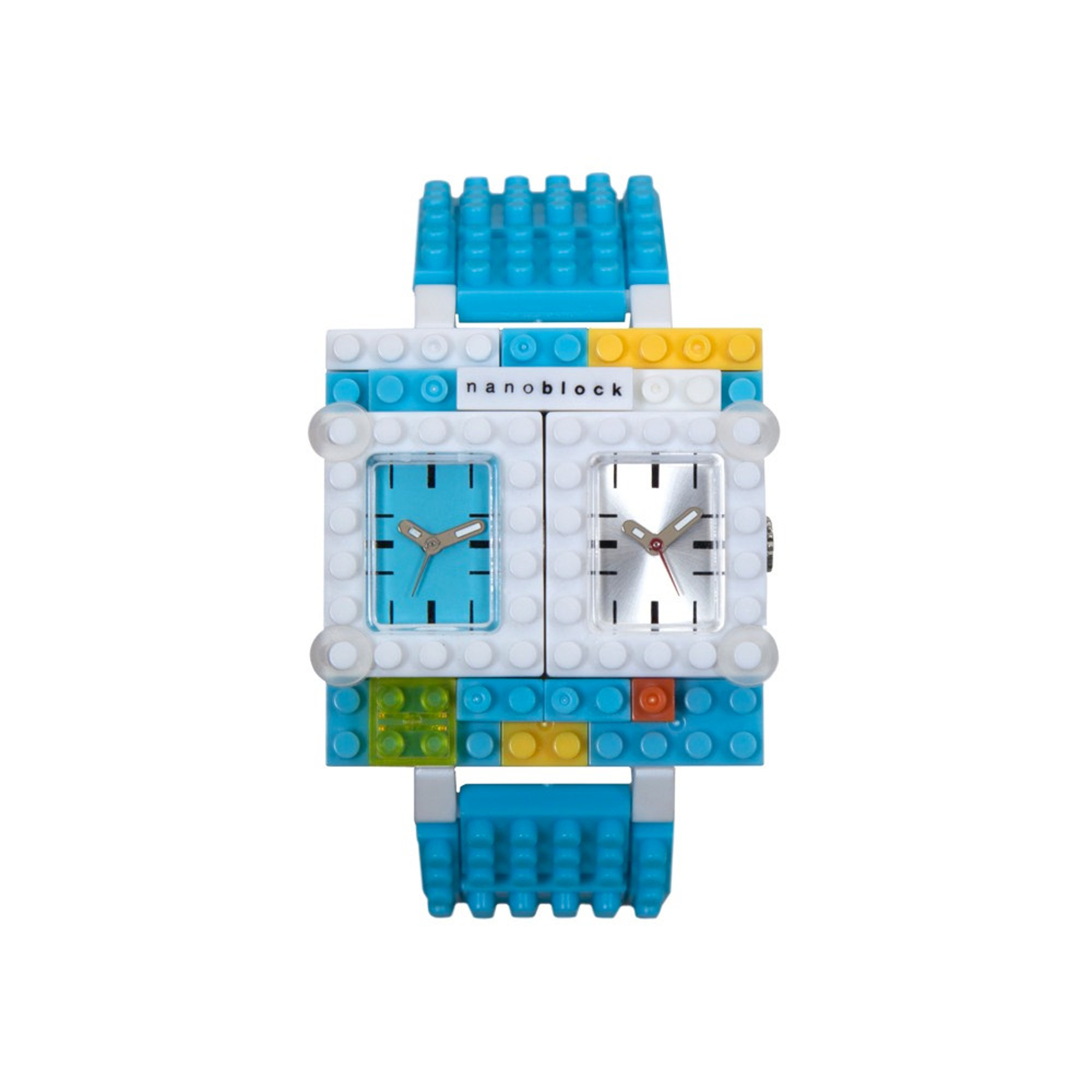 Nanoblocktime Traveler Watch, Light Blue by Nanoblocktime