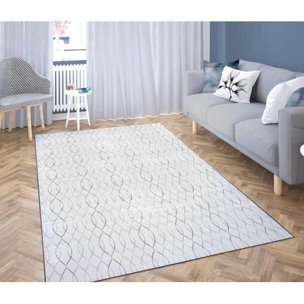 Deerlux Modern Living Room Area Rug with Nonslip Backing ...