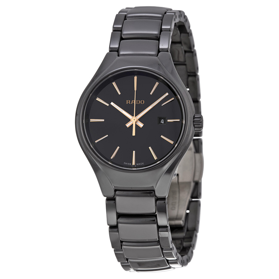 Rado Black Dial Black Ceramic Ladies Watch R27059162