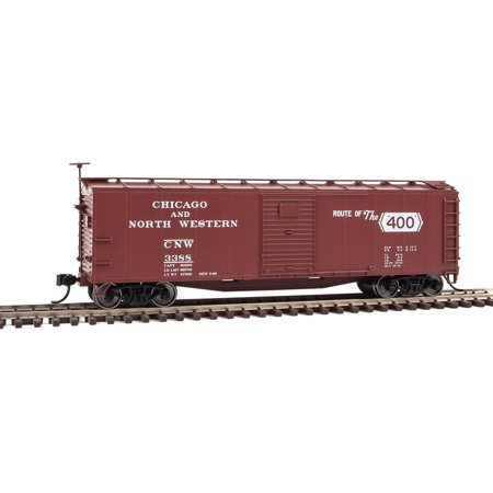 Walthers HO Scale 40' Rebuilt Steel Boxcar Chicago & North Western/CNW #3388