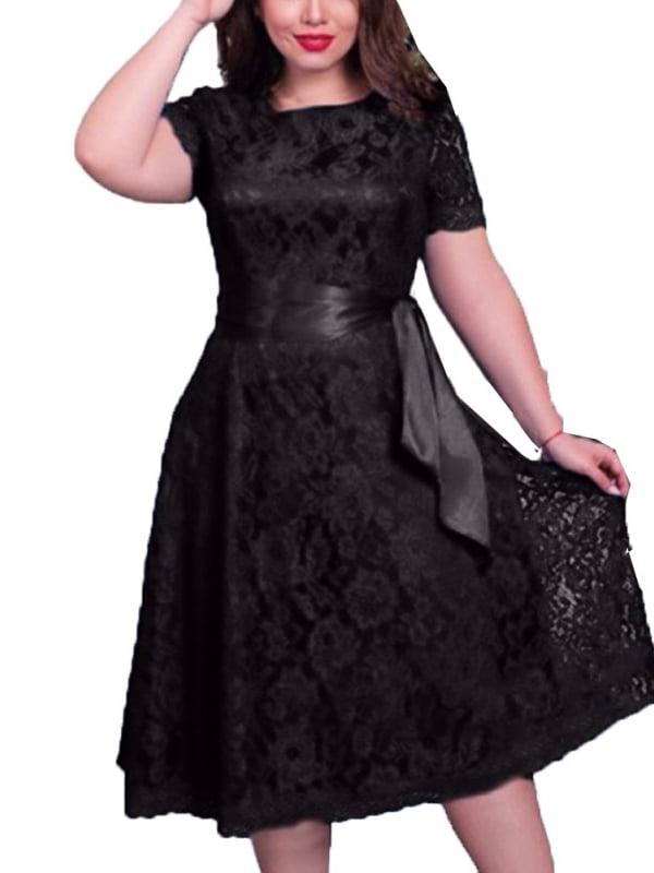 Esho - Women Floral Lace Plus Size Dress Prom Evening ...