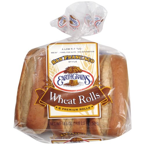 "Sara Lee Earth Grains 7"" Wheat Rolls"
