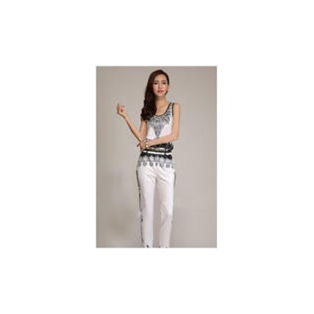 279453e75bca Unomatch - Women s Sleeveless Embroided Casual Trouser Jumpsuit ...