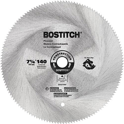"Bostitch 7 1/4"" 140T Hollow Ground Plywood Blade, BSA3140M"