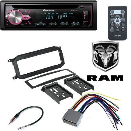 Pioneer Single DIN In-Dash CD Car Stereo Receiver w/ Variable Color DODGE 2002 - 2005 RAM 1500 (DOES NOT WORK WITH 2004-05 INFINITY SYSTEMS)CAR RADIO STEREO CD PLAYER DASH KIT