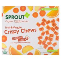 Organic Crispy Chews Toddler Fruit Snack With Whole Grains (Pack of 8)