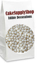 White Edible Edible Cake Cupcake Decoration Pearls Beads