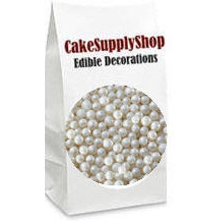 White Edible Cake Cupcake Decoration Pearls Beads
