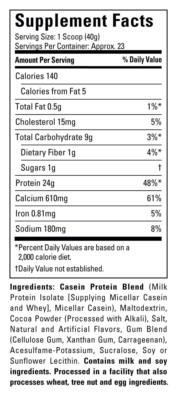 Casein protein ingredients