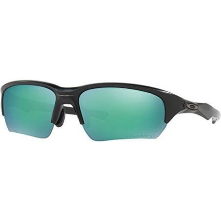 oakley unisex flak beta asian fit polarized sunglasses, matte black/jade, one size (Flak Jacket Oakley Sonnenbrille)