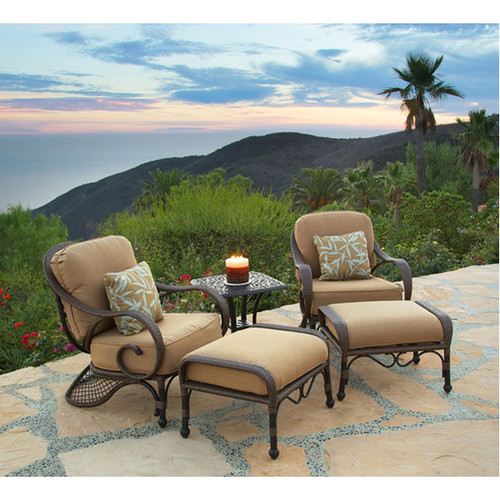 Art Frame Direct Loreto 5 Piece Deep Seating Group with Cushions