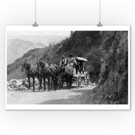 Lake Chelan, Washington - View of Stagecoach Cape Horn Near Chelan Canyon (9x12 Art Print, Wall Decor Travel - Near Cape Horn