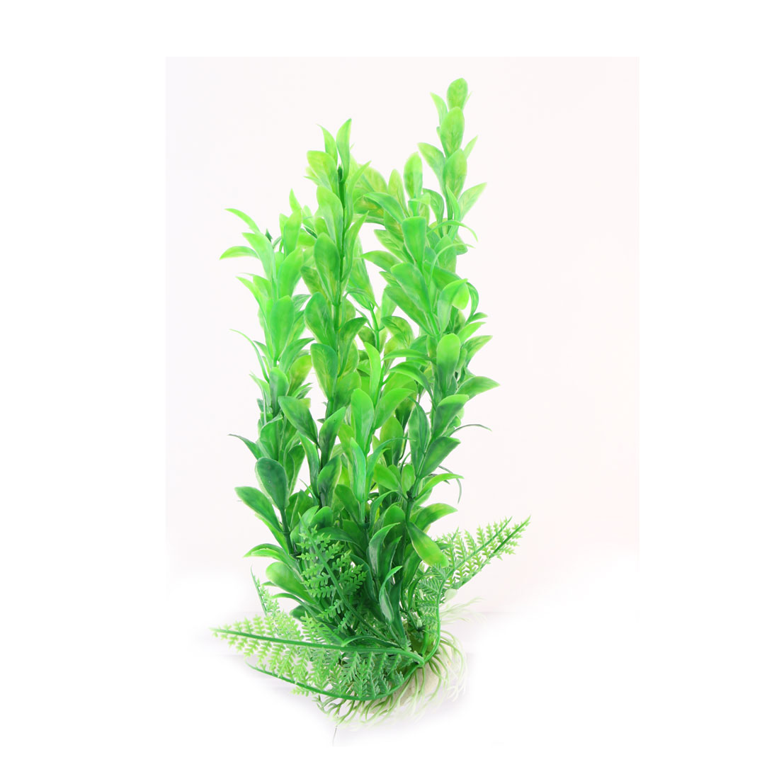 Household Fish Tank Aquarium Plastic Grass Artificial Plant Decor Green Beige