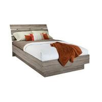 Atlin Designs Full Platform Bed in Truffle