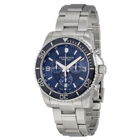 - Swiss Army Maverick Chronograph Blue Dial Mens Watch 241689