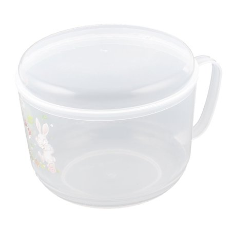 Plastic Round Office Lunch Dinner Rice Food Storage Container Box Clear - image 3 de 3