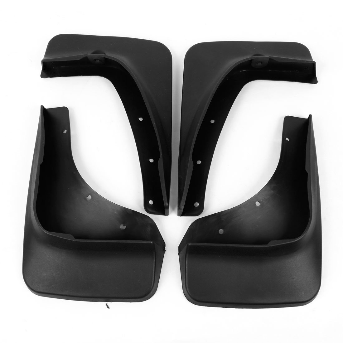 4 Pcs Black Left Right Splash Guards Plastic Mud Flaps Set for Mazda CX-5