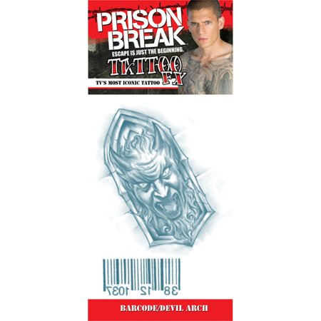 Morris Costumes Prison Break Barcode Devilarch Tattoos, Style DF809PB](Point Break Costumes)