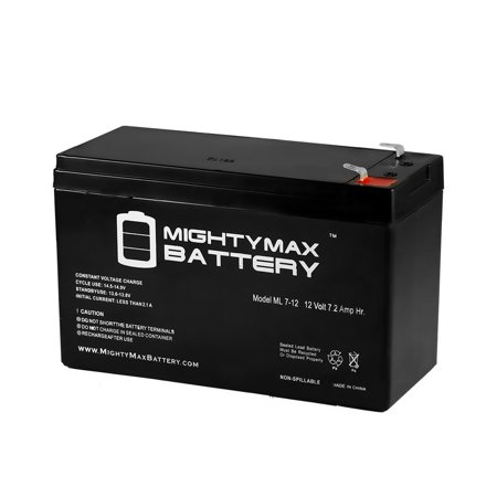 ML7-12 - 12 VOLT 7.2 AH SLA BATTERY - Mighty Max Battery brand product