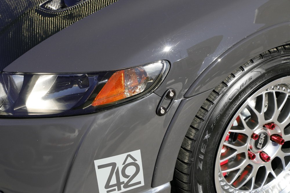 4x Black JDM Aluminum Quick Release Fasteners Bumper Trunk Fender Hatch Lids Kit