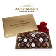 Andy Anand Chocolate Belgian Sugar Free Truffles 16 Pieces Gift Boxed & Greeting Card, Truffles are Delicious, Succulent & Divine Christmas Valentines Day Birthday Anniversary Free Air Shipping
