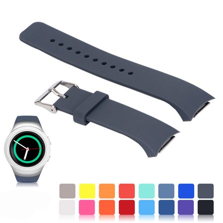 Bands Compatible Samsung Gear S2 Watch, Amerteer Soft Silicone Replacement Sport Strap Wristbands Samsung Gear S2 Smart Watch, SM-R720/SM-R730 ()