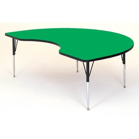 Kidney Shape High Pressure Activity Table (48 in. x 72 in./Short/Green)