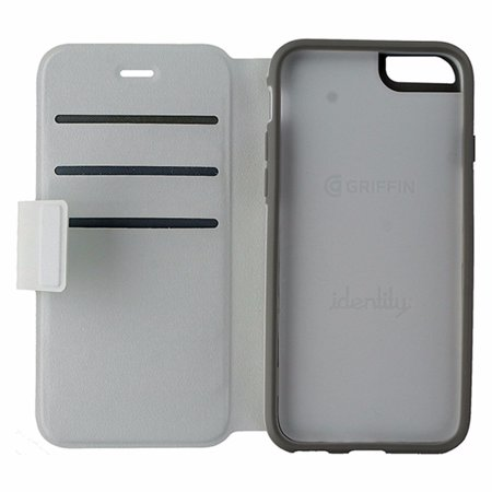 online retailer b5035 74499 Griffin Identity Interchangeable Folio Case for iPhone 6 / 6s - White / Gray