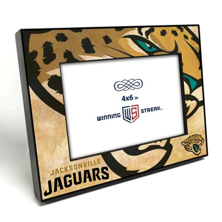 - Jacksonville Jaguars NFL (4x6 in) Table Top Wood Picture Frame with Black Edges