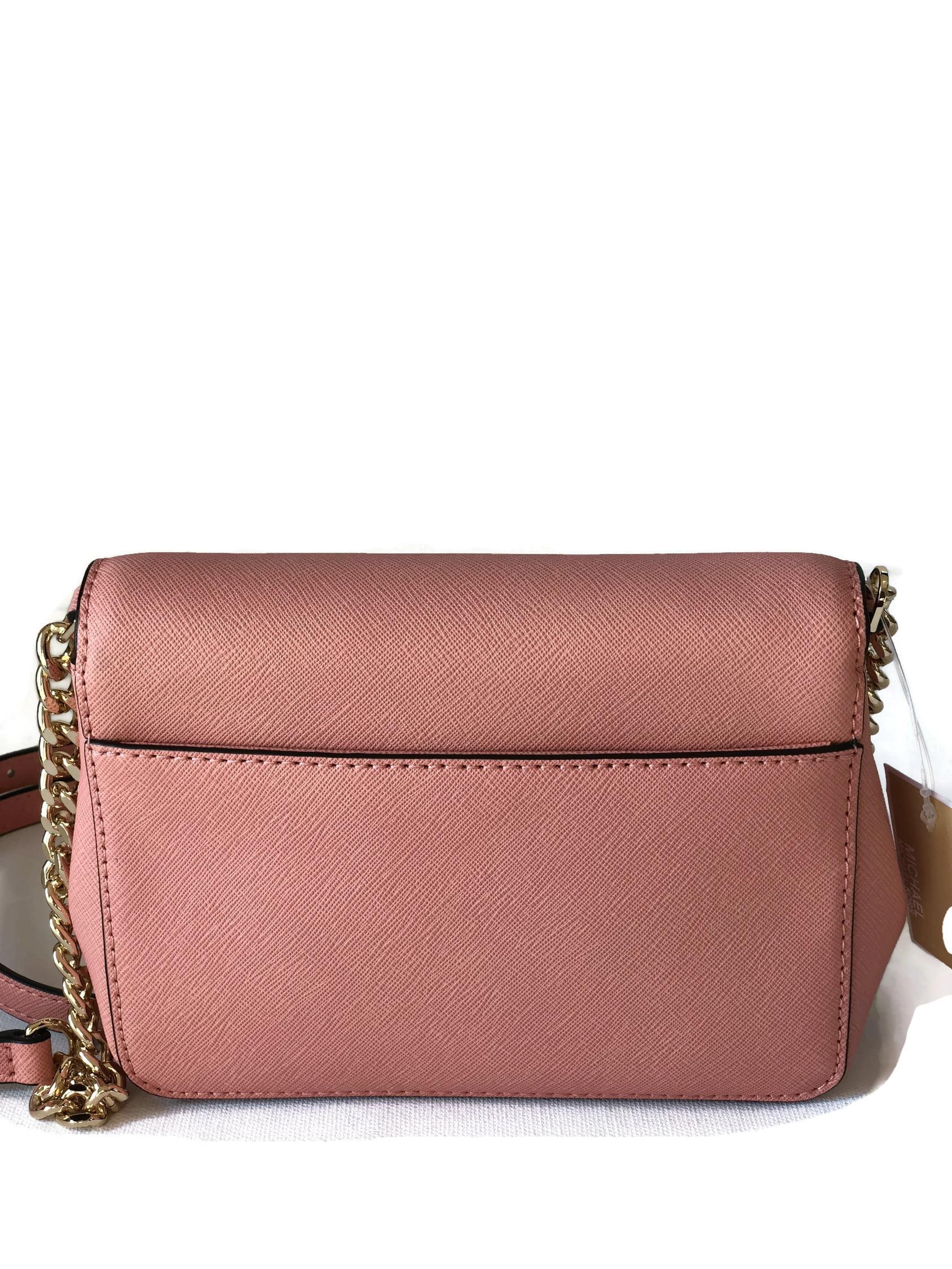 68e306271 Michael Kors Tina Small Saffiano Leather Clutch Crossbody Bag - Peach -  Walmart.com