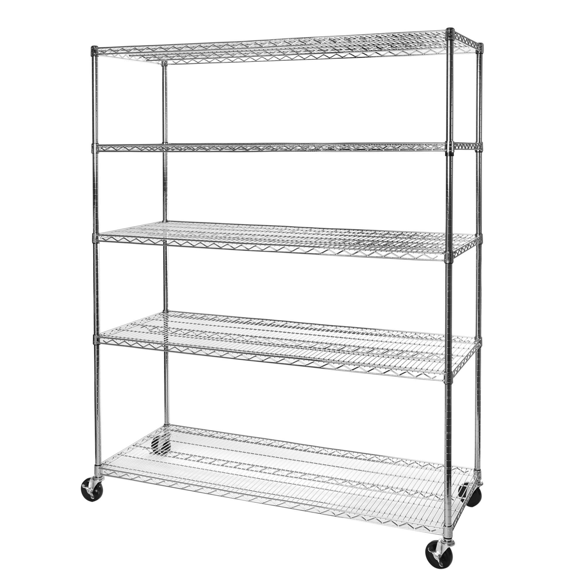 Commercial Chrome Wire Unit 18 x 60-2 Shelf Unit 18 Height