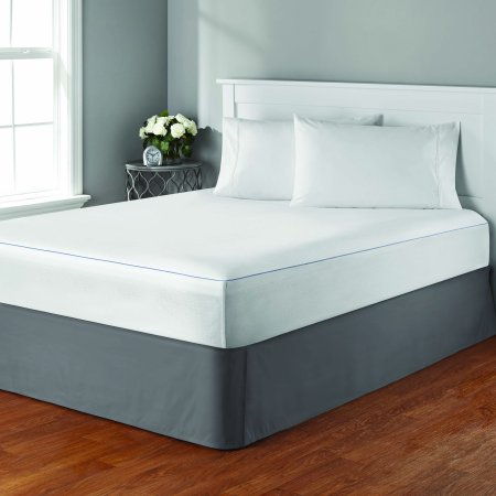 Mainstays Cooling Comfort Luxury Fitted Mattress Protector, 1